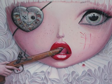 Adrian Borda – Love Slowly Kills IV – Oil on canvas 50x70cm