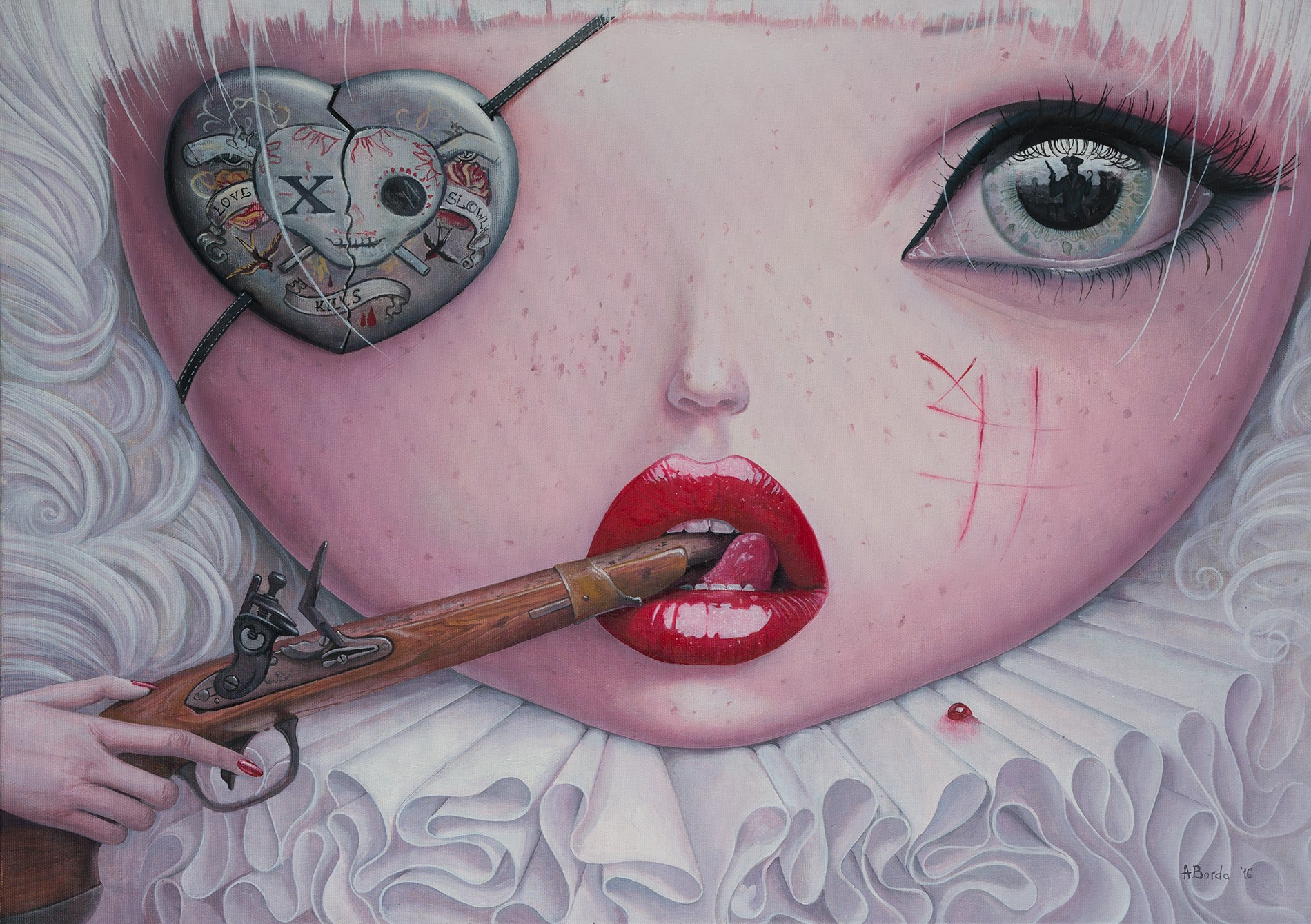 Adrian Borda – Love Slowly Kills IV – Oil on canvas 50x70cm