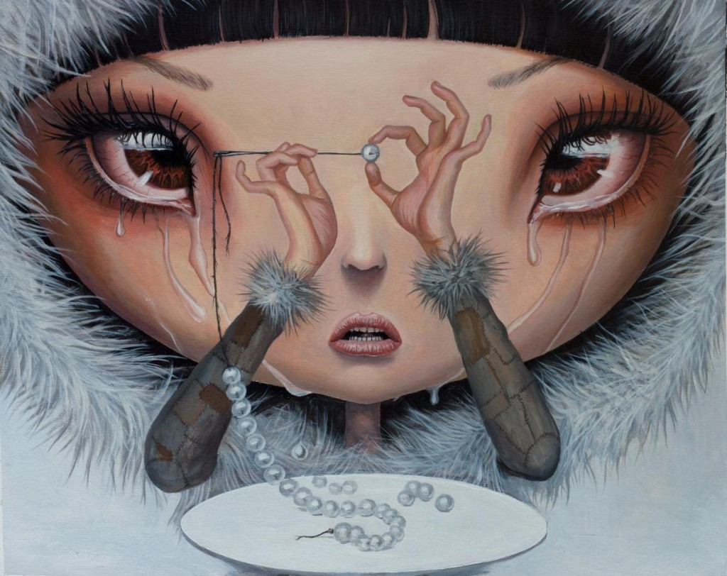 Adrian Borda - Sadness is My Single Fortune - oil on canvas 45x36 cm