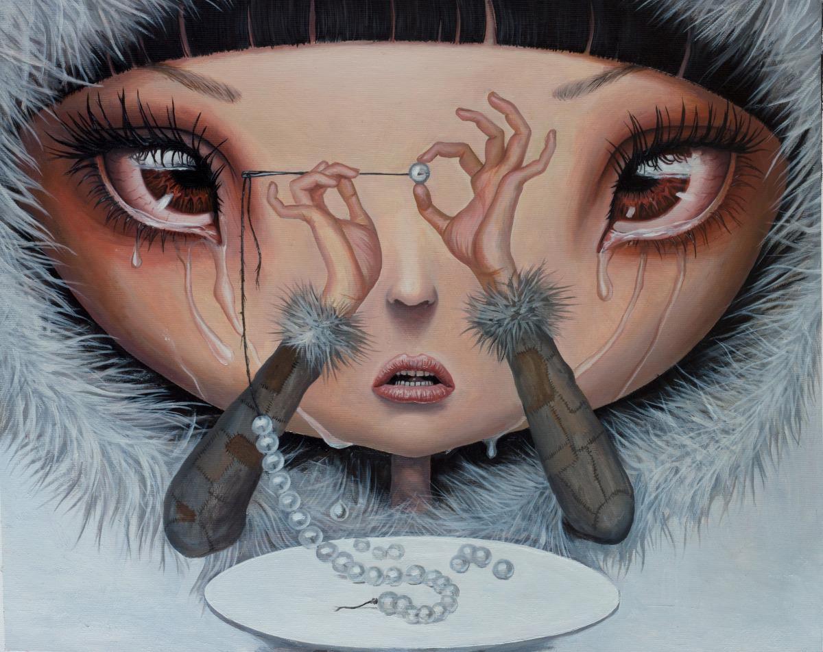 Adrian Borda – Sadness is My Single Fortune – oil on canvas 45×36 cm