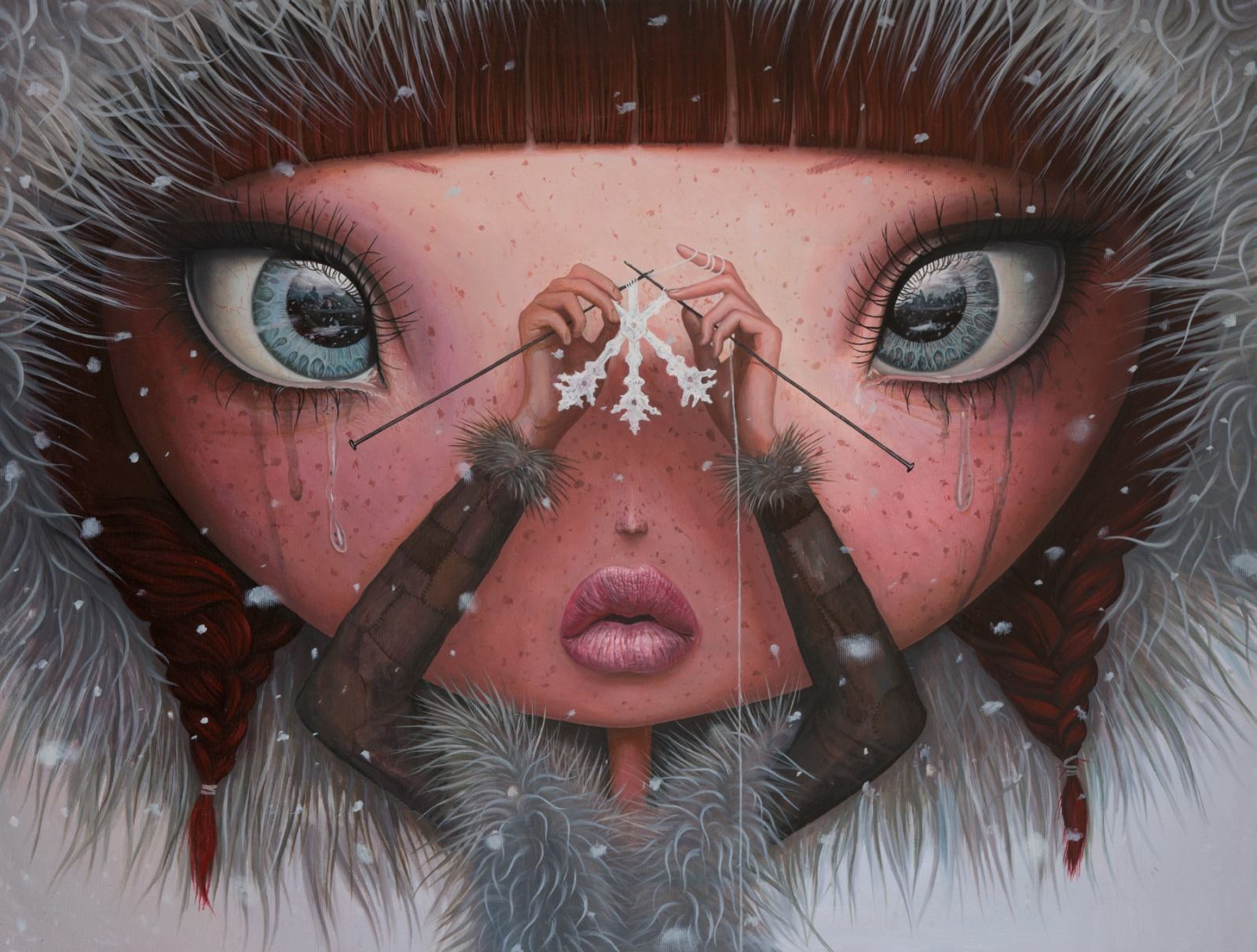 Adrian Borda – You'll never melt on me again – oil on canvas 60 x 80cm