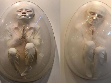 Bahadır Baruter – Sculptures – Fatality Series – Silicon, epoxy, acrylic resin, plexiglas, wood, 110 x 106 x 24 cm, 2015