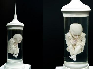 Bahadır Baruter – Sculptures – Fatality Series | Untitled VII – Silicon, epoxy, acrylic resin, plexiglas, wood, 85 x 26 cm, 2015