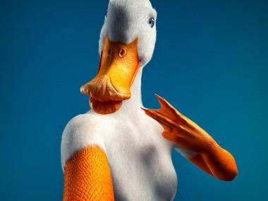 Digital 3D series Cristian Girotto – Selfie animal duck