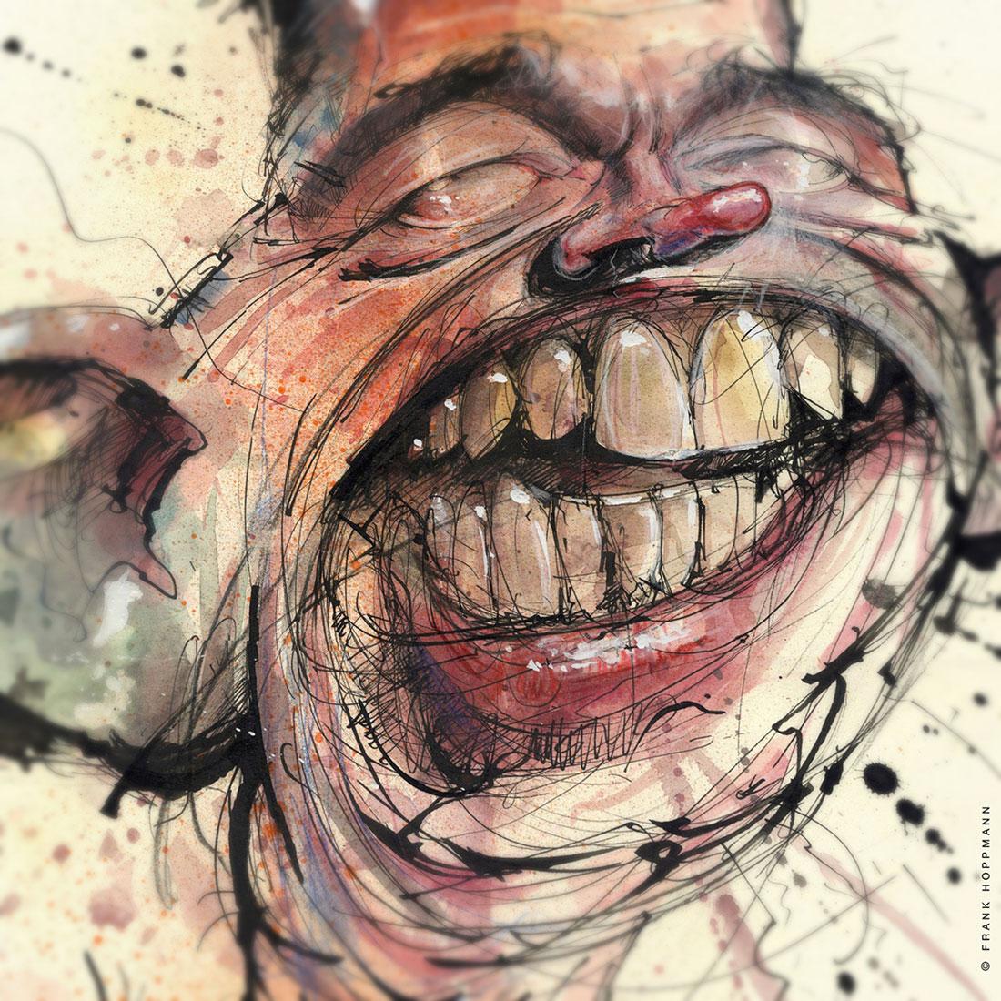 Frank Hoppmann – caricature satirique – Bernd Lucke