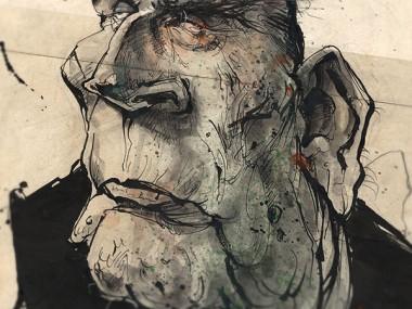 Frank Hoppmann – caricature satirique – François Mitterrand