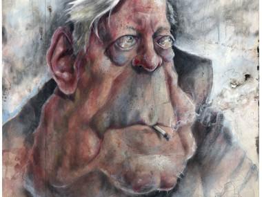 Frank Hoppmann – caricature satirique – Helmut Schmidt