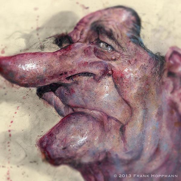 Frank Hoppmann - caricature satirique - Jacques Chirac