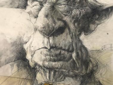 Frank Hoppmann – caricature satirique – Konrad Adenauer