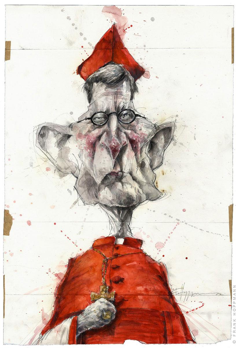 Frank Hoppmann – caricature satirique – Rainer Maria Woelki