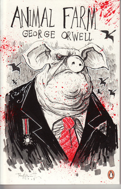 Ben Templesmith - Animal farm Orwell illustration
