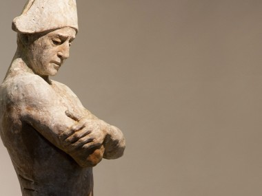 CODERCH & MALAVIA, Don Tancredo,81 x 25 x 21 cm, bronze sculpture
