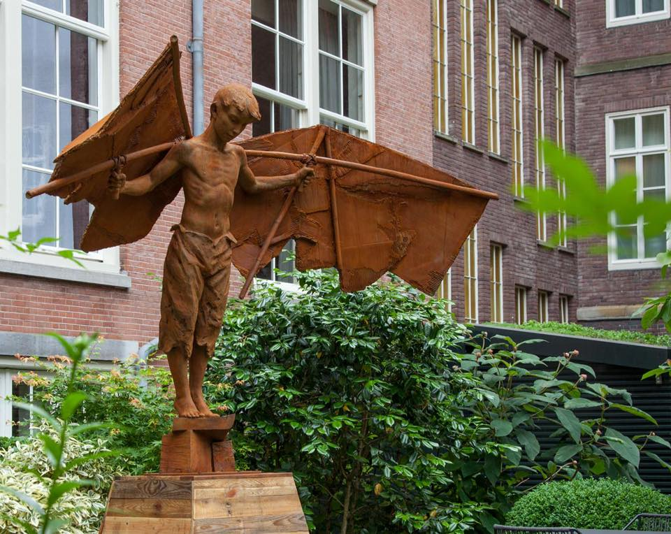 Coderch & Malavia, Sculptors – Learning to Fly, life size. Bronze.