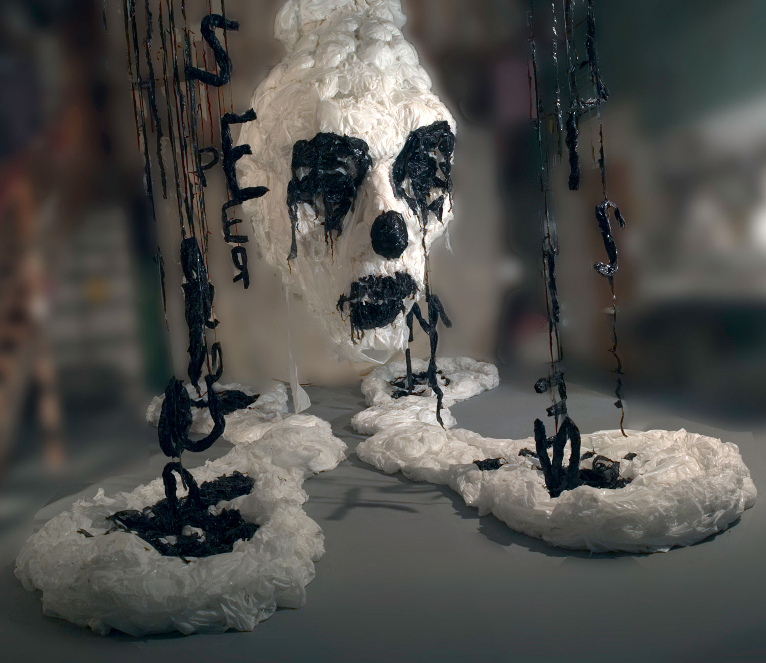 Plastic Bag Sculptures – Khalil Chishtee – In the pursuit of spirituality 2006