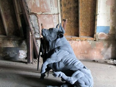 Dorcas Casey – Textile sculpture – Bull