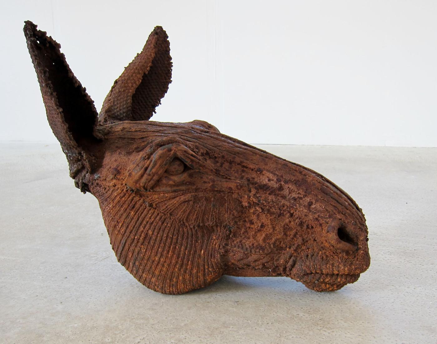Dorcas Casey – Sculpture – Mule bronze