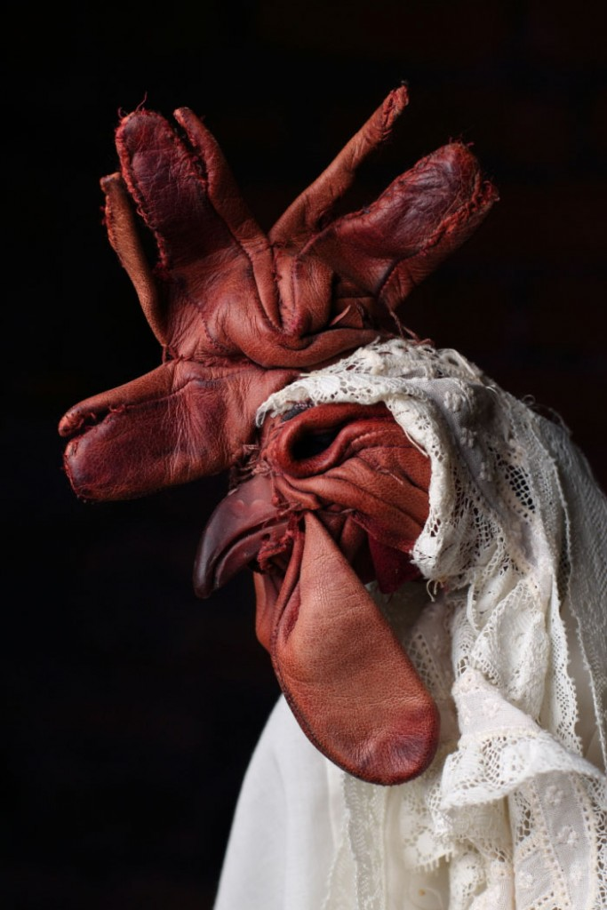 Dorcas Casey - Textile sculptures Coq
