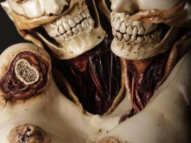 Emil Melmoth, Study Of Death, ceramic sculpture, 32 x 18 x 20 inches 2