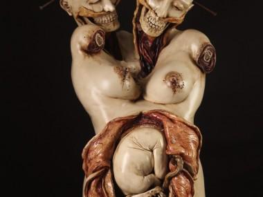 Emil Melmoth, Study Of Death, ceramic sculpture, 32 x 18 x 20 inches