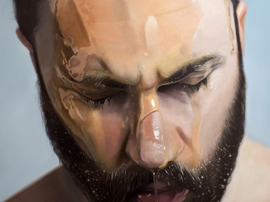 Mike Darkas – Hyper-realistic paintings – Self portrait