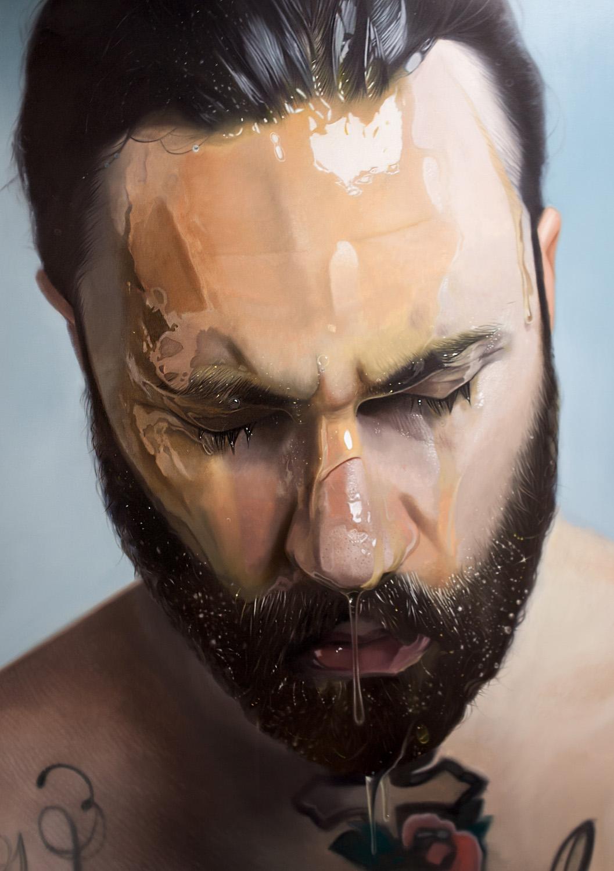 Mike Darkas – Hyper-realistic paintings – Self portrait