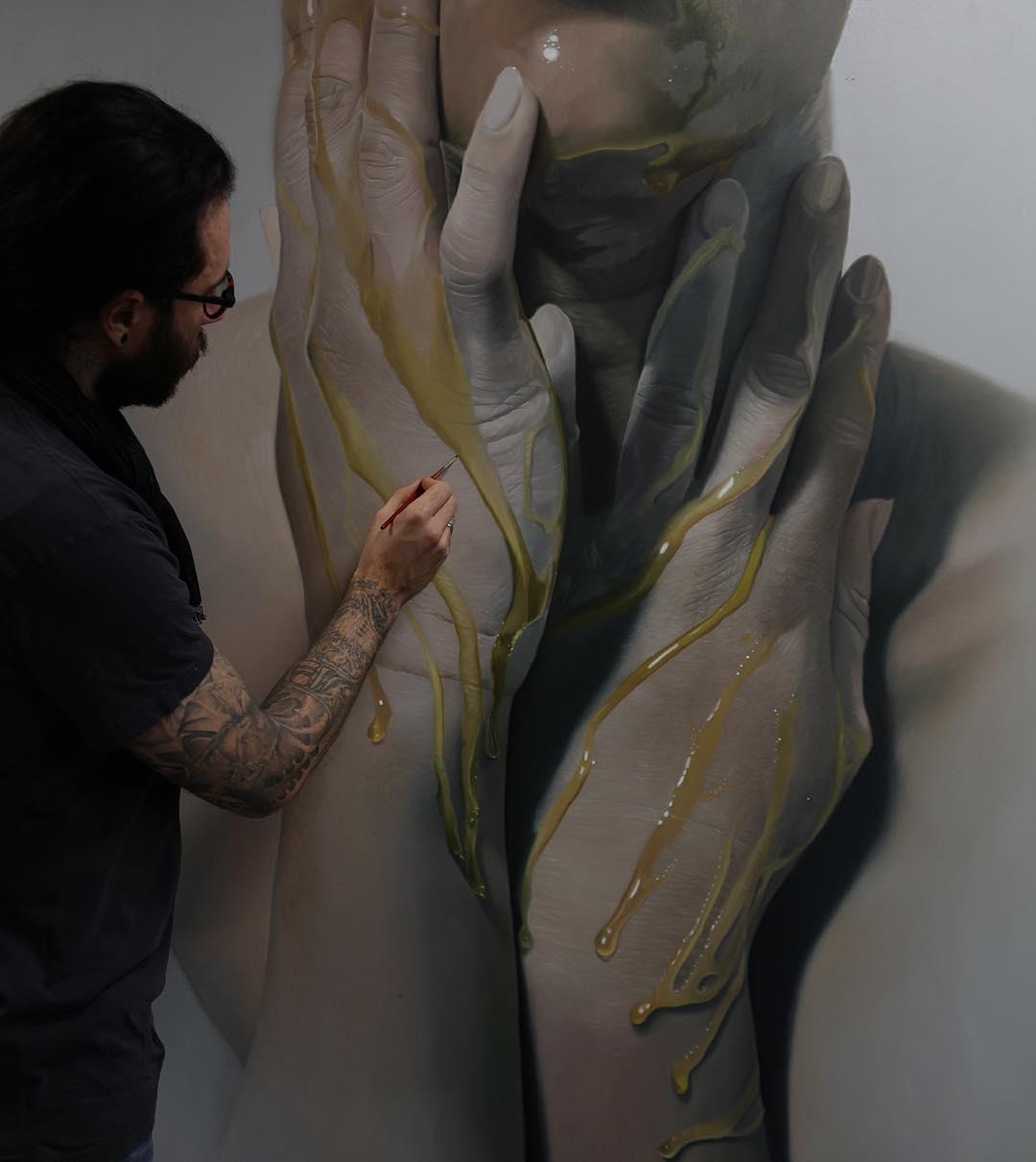 Mike Darkas – Hyper-realistic paintings portrait details