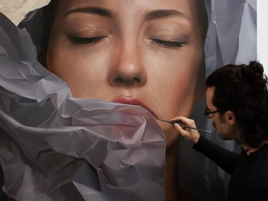 Mike Darkas – Hyper realistic paintings portrait #oil #painting