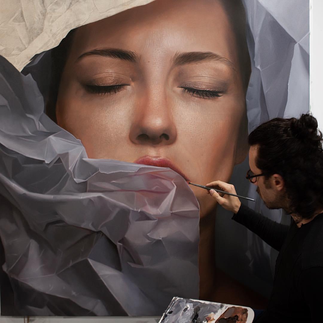 Mike Darkas – Hyper realistic paintings portrait #oil #painting