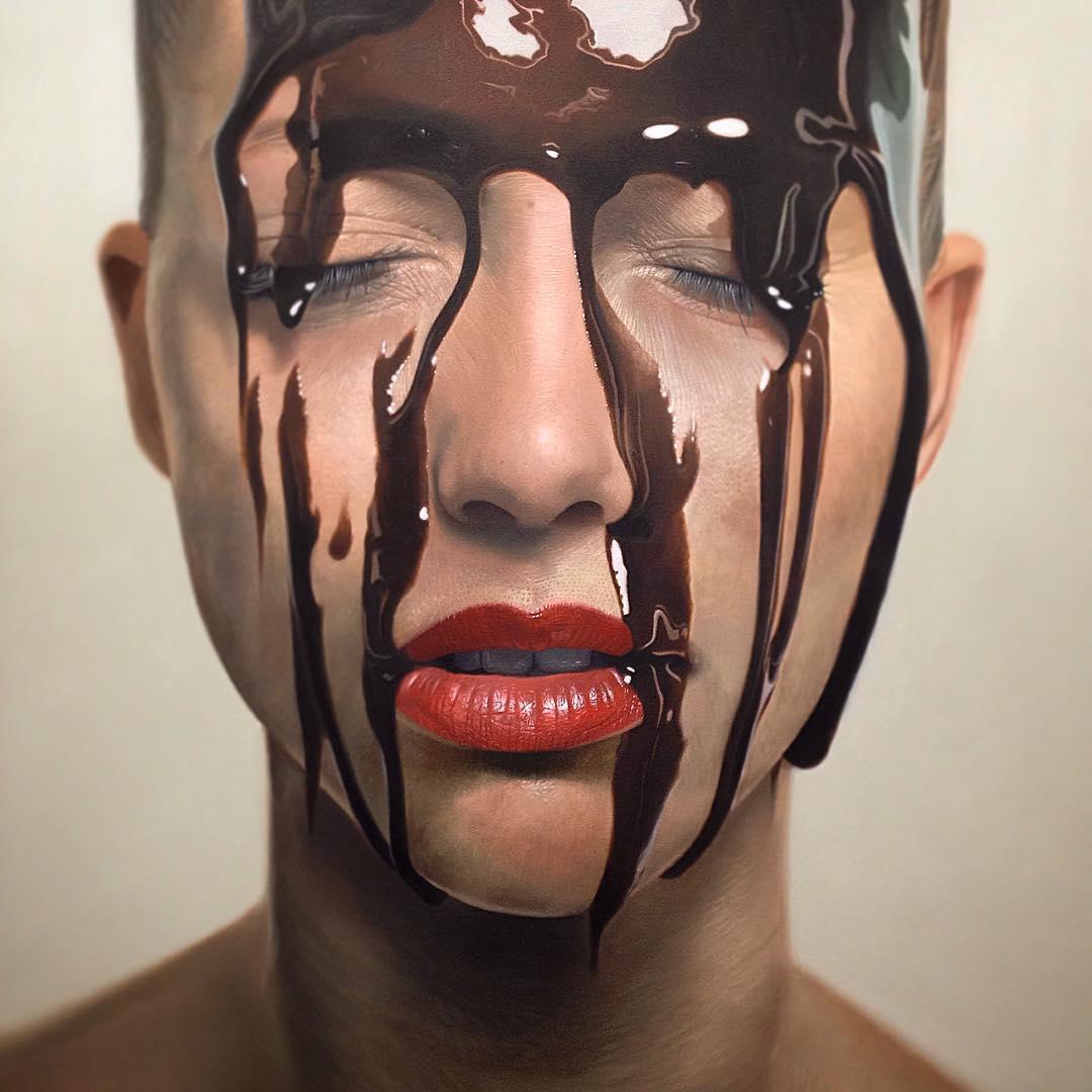 Mike Darkas – Hyper-realistic paintings portraits