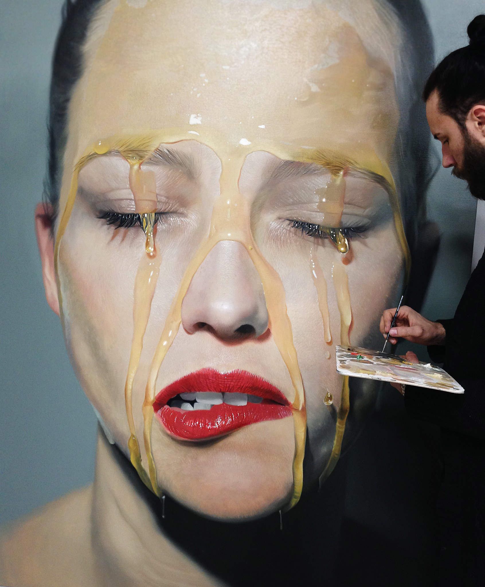 Mike Darkas – Hyper-realistic paintings portrait