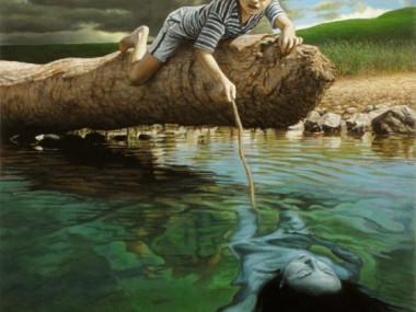Fred Einaudi – oil paintings – The Mermaid – oil on canvas