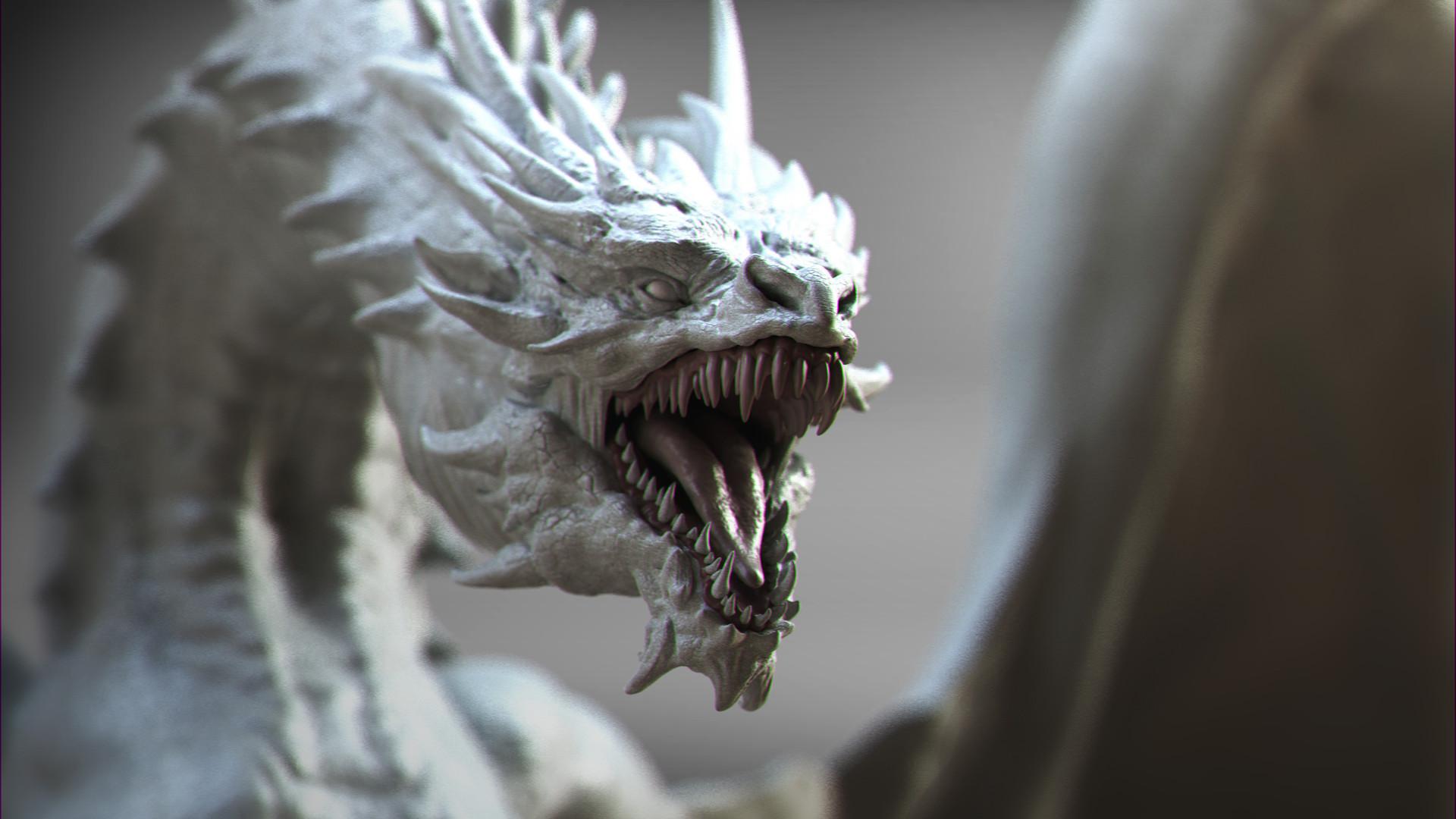 keita okada, Digital sculptor – Dragon