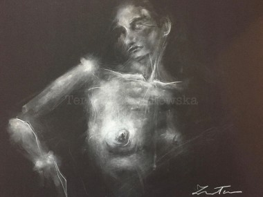 Ter Ars Zawitkowska – Charcoal and pastel on paper