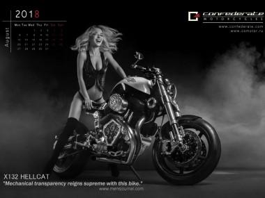 Confederate-Motorcycles-Kalendar_2018- August Calendrier