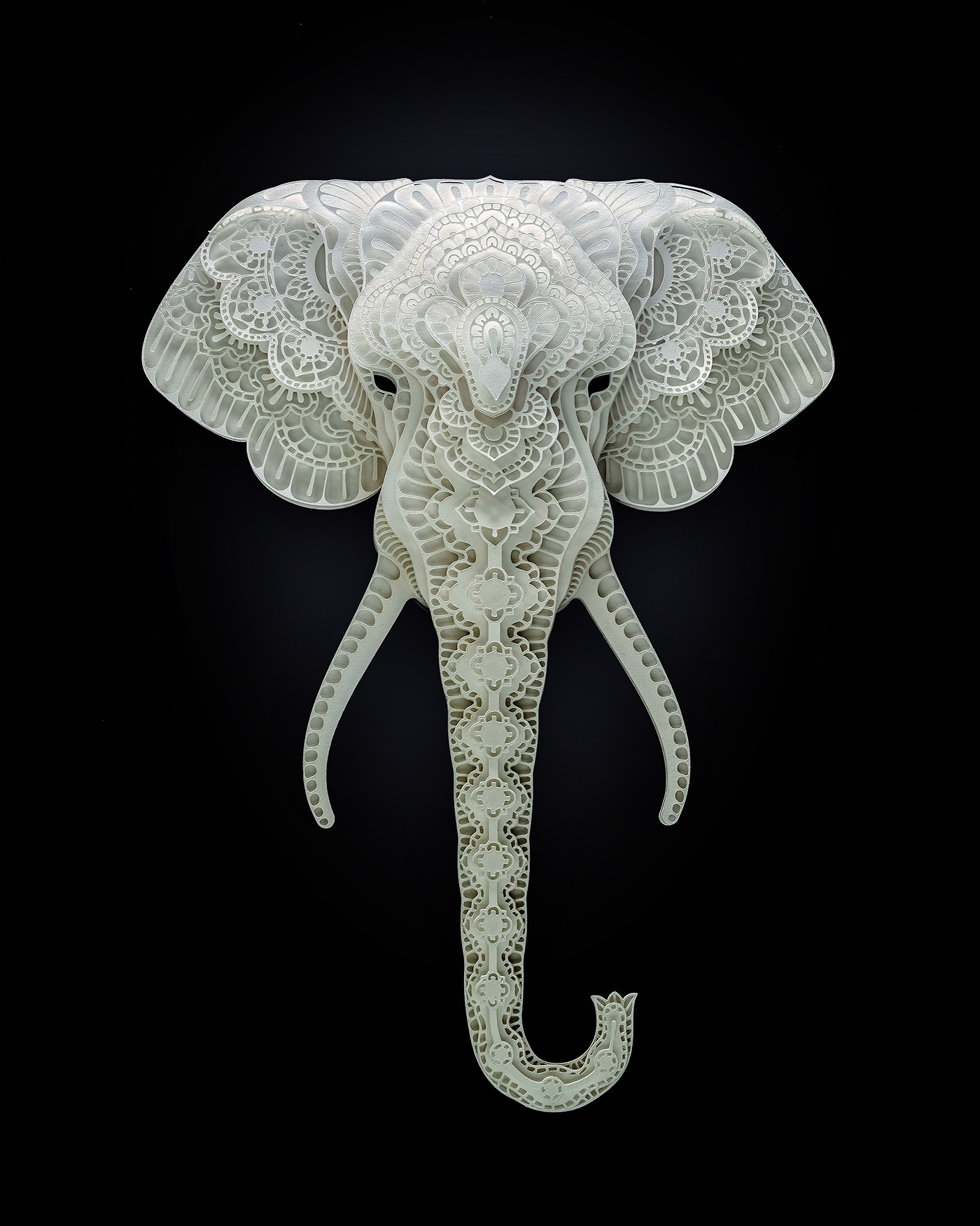 Patrick Cabral – papercuts Art – Elephant
