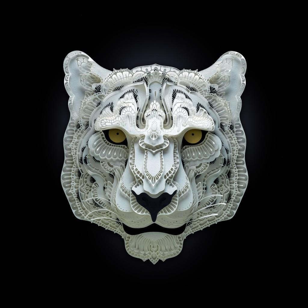 Patrick Cabral - papercuts Art - Leopard