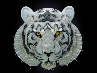 Patrick Cabral – papercuts Art – Tiger