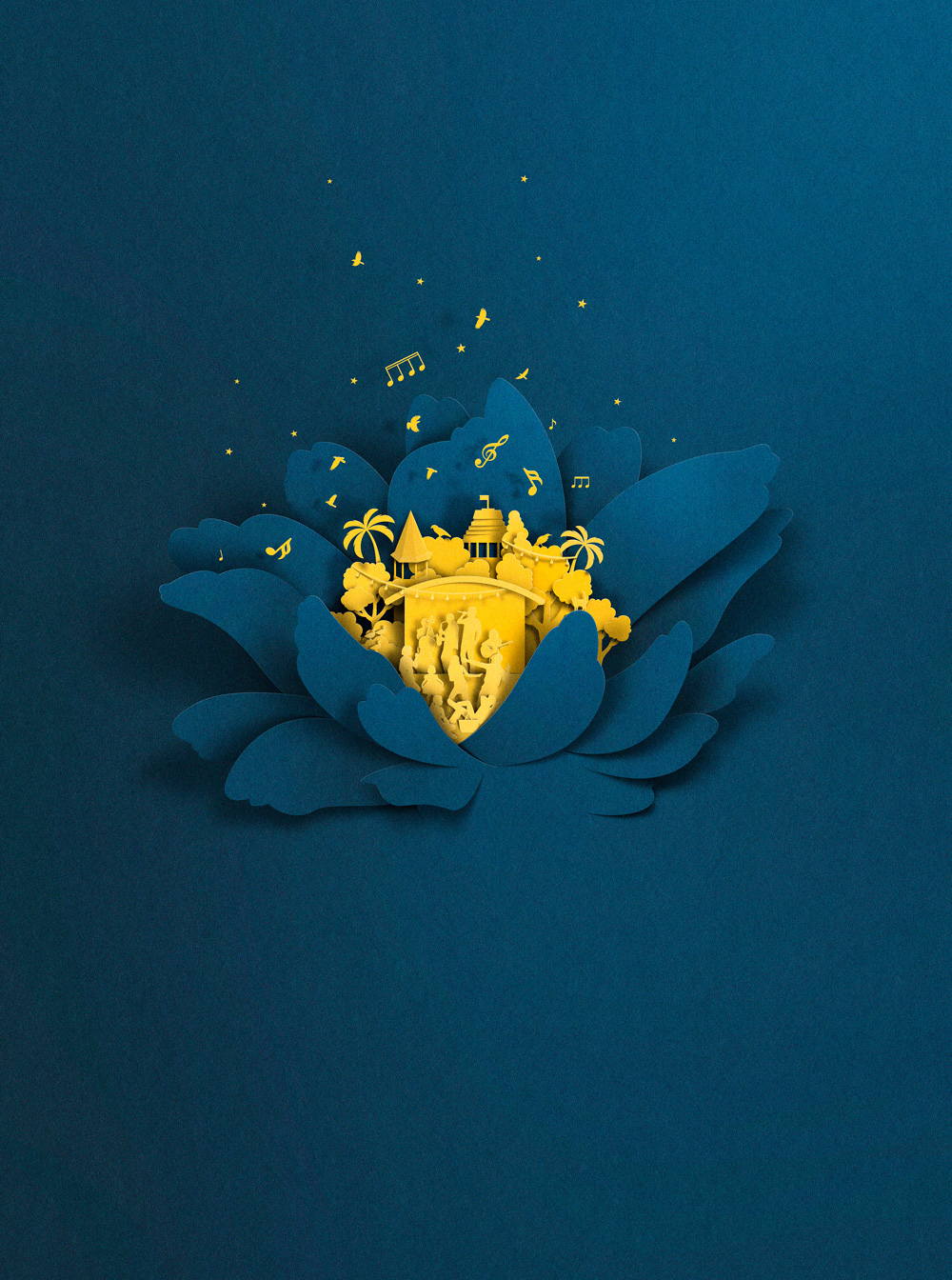 Eiko Ojala – Digital art illustration – Wellington Summer