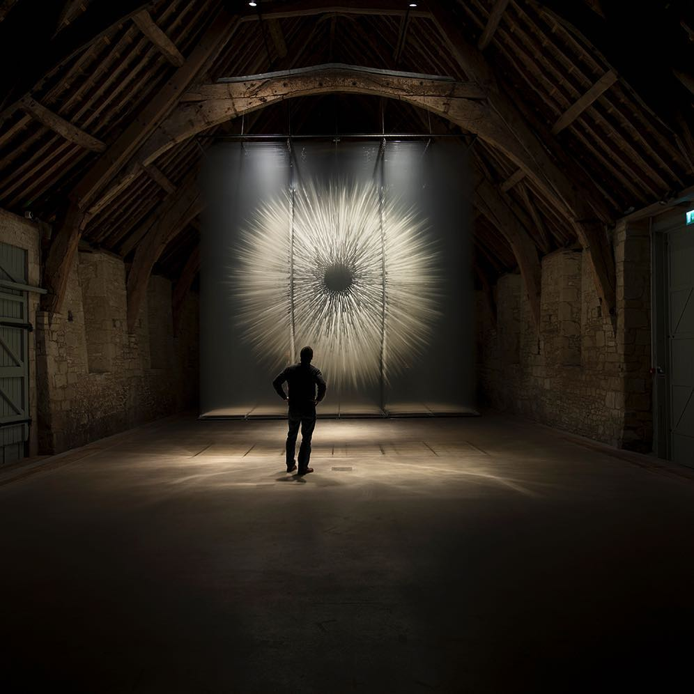 Vision II by David Spriggs. Recently presented at Messums Wiltshire. Vision II is a 16ft high 3D installation of layered painted images
