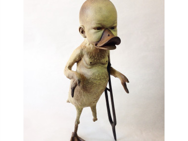Costa Magarakis – Sculpture, Duck you! Mixed media sculpture