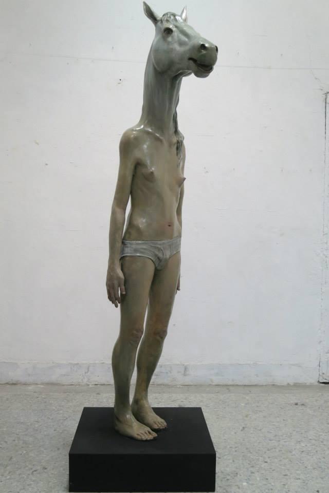 Bran Lin Sculptures – Gelding, 197 x 56 x 42 cm – 2013