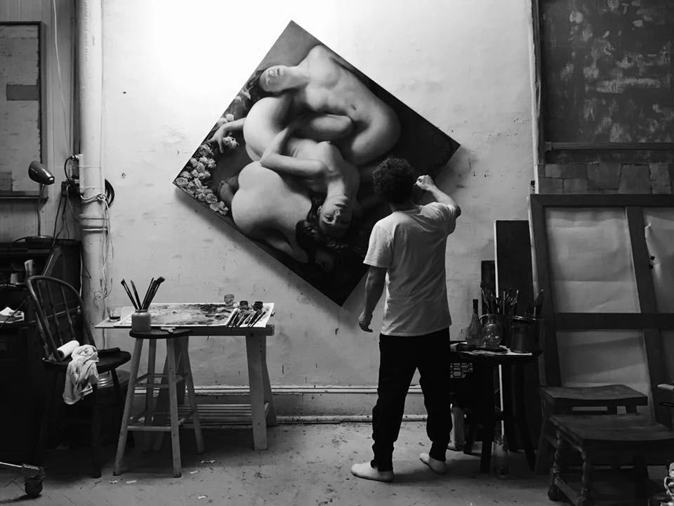 Christopher Pugliese – Painting studio