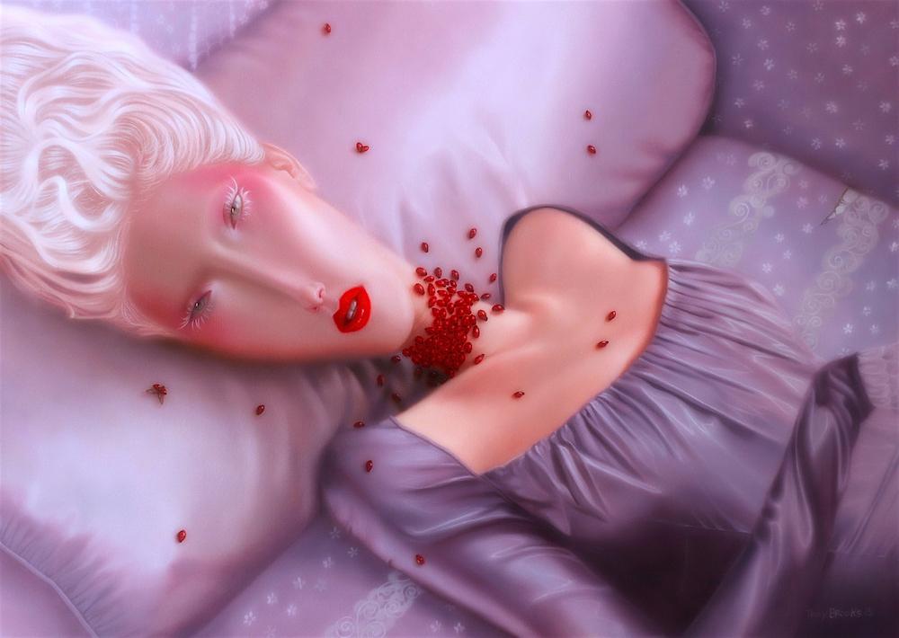 Troy Brooks, Love bugs – Oil on canvas