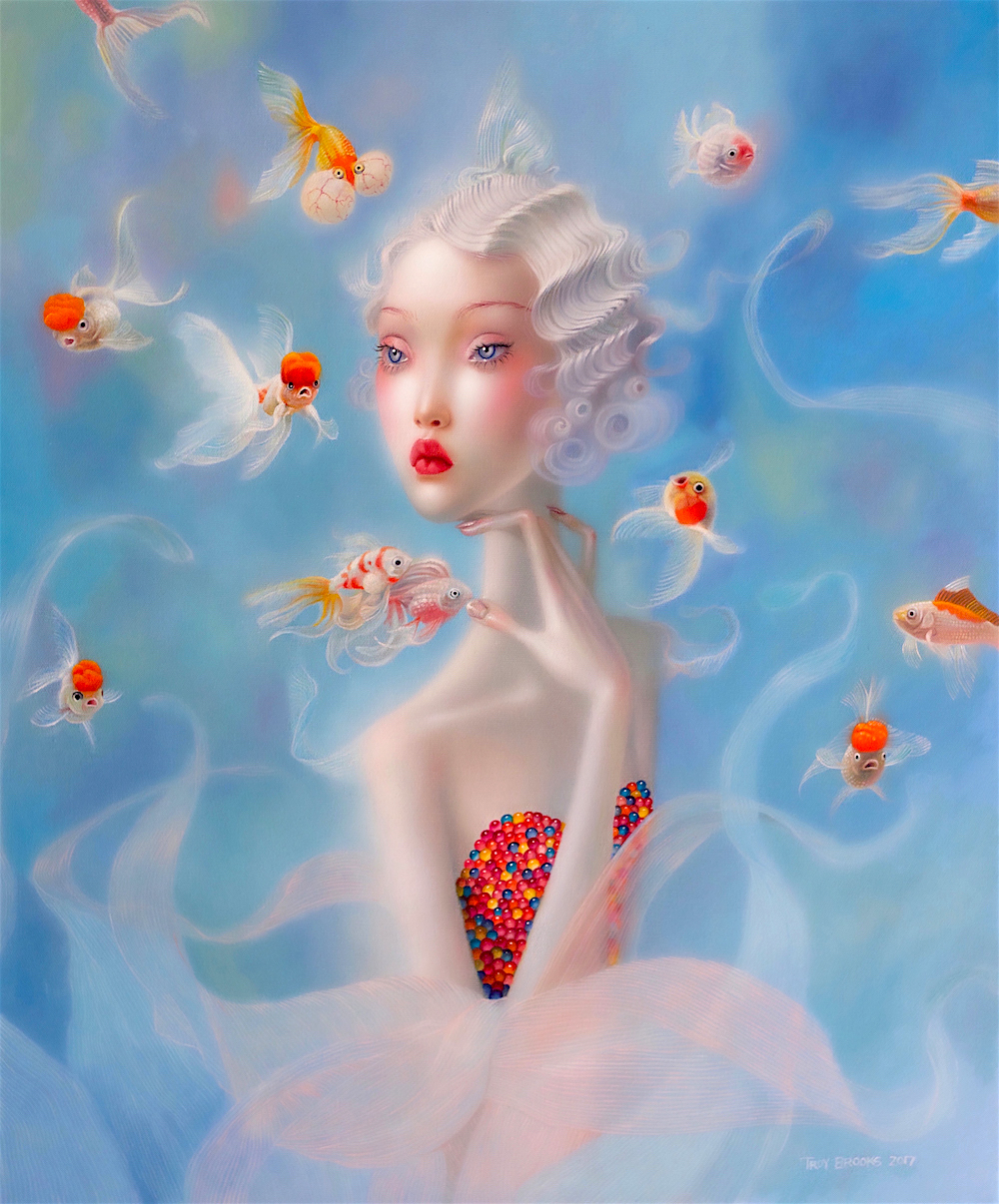 Troy Brooks, Water Lily – Oil on canvas