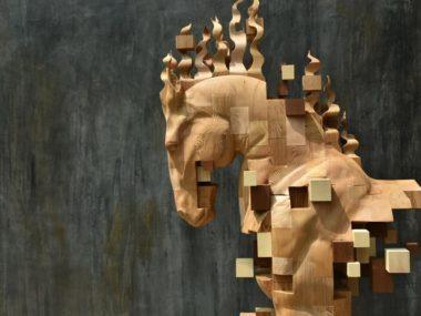 Hsu Tung Han – Wood horse sculpture