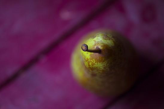 Photo poire seule, ambiance