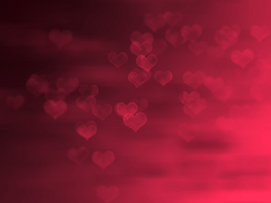 Background texture red hearts, free download