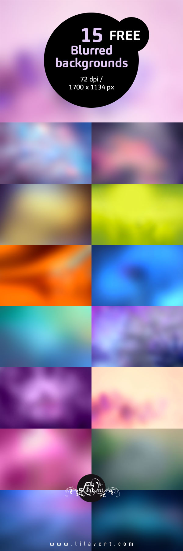 15 Free Blurred Backgrounds - 72 dpi