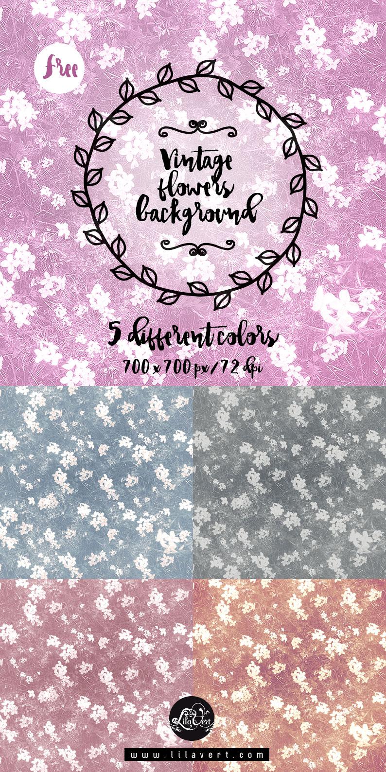 Free vintage flowers background textures - stock photos