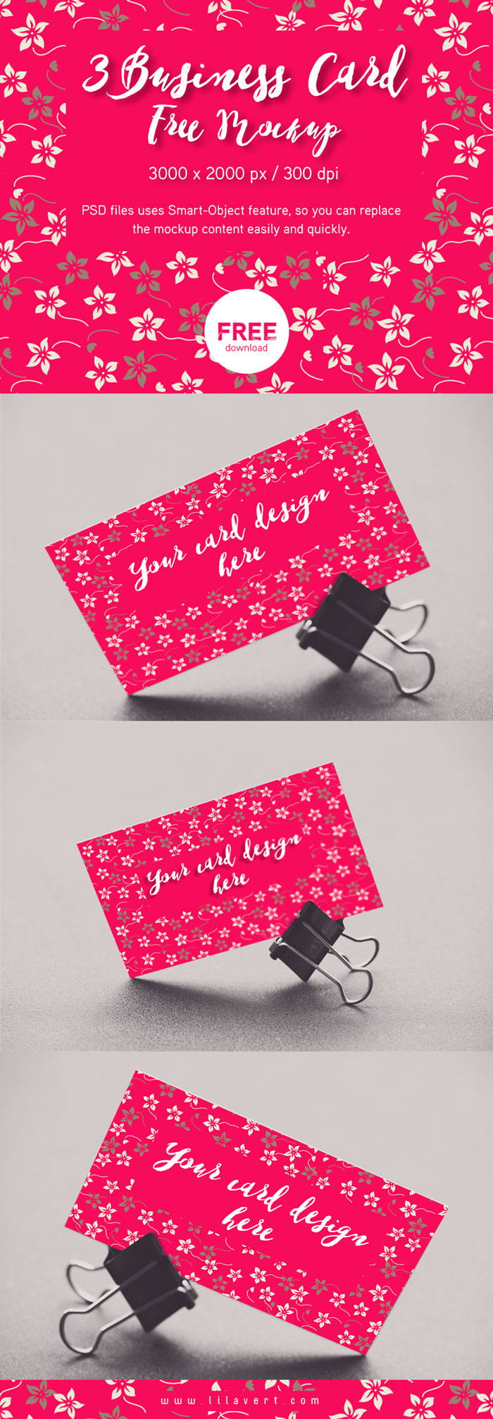 3 free business card mockup